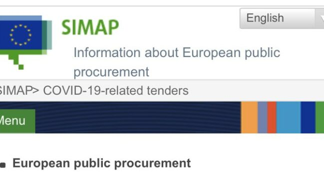 The European Commission has published a list of COVID-19 related tenders across the EU