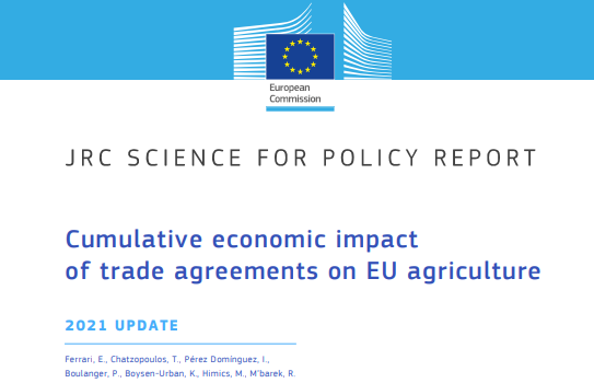 Economic study on 'the cumulative effects of trade agreements on the EU agricultural sector'