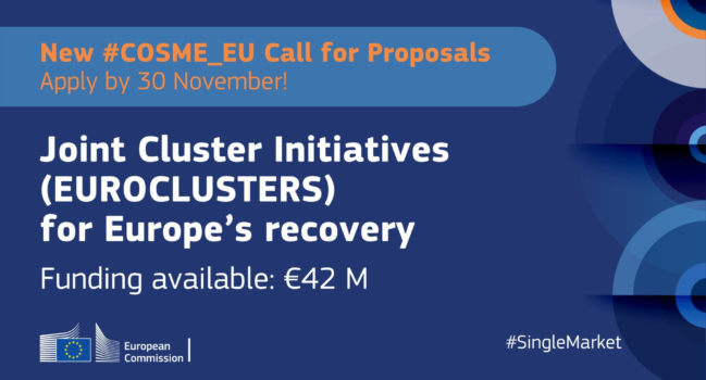 Joint Cluster Initiatives (EUROCLUSTERS) for Europe's recovery